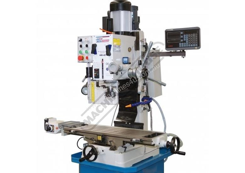 HM-48 Mill Drill - Geared & Tilting Head with Digital Readout System (X) 540mm (Y) 185mm (Z) 410mm I