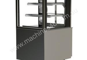 FPG 3CA06-SQ-FS-SD-I Controlled Ambient Square Freestanding Display w/Sliding Glass Door & Integral