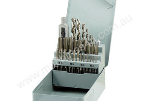 HSS Metric Hand Tap & Drill 29pcs Set M3-M12