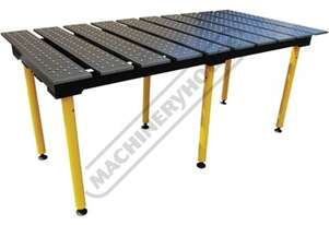 TMQA62010 BuildPro Modular Welding Table - Nitrided Finish Reversible Table Plates 1960 x 1000 x 900