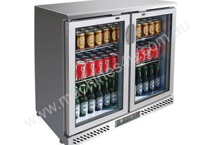 F.E.D. BC02SP Two Door BLACK MAGIC S/Steel Bar Cooler