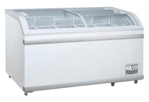 F.E.D. WD-700 Curved Glass Chest Freezer