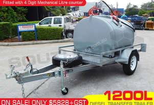 1200L Diesel Fuel Trailer 12V with Litre counter