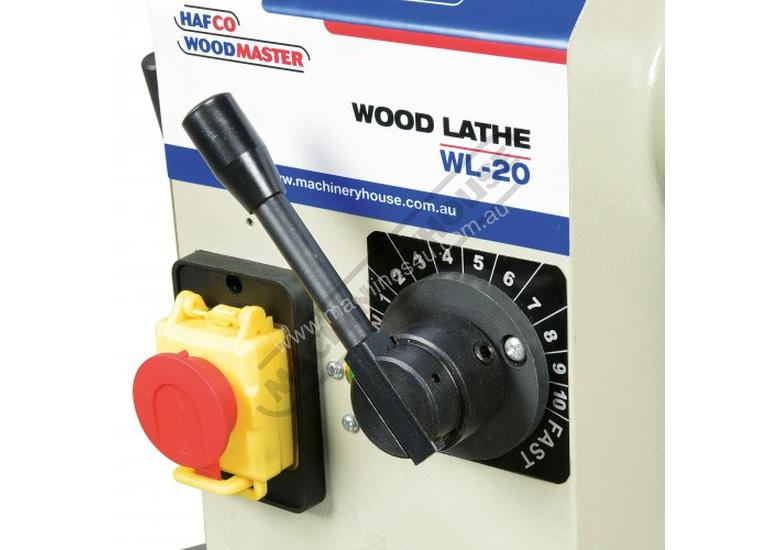 WL-20 Swivel Head Wood Lathe 370mm Swing x 1100mm Between Centres