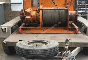 Hydraulic Diesel 1Tonne Wire Winch with Heavy duty tandem trailer