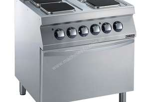 Zanussi EVO 700 4 Hot Square Plate (2.6kW Each) Electric Range on Electric Oven (6kW) Z7ECEH4QE0