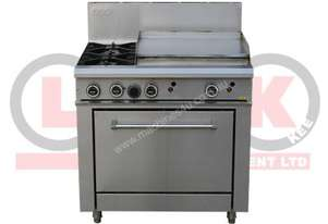 LKK LKKOB6B 2 Gas Open Burner Cooktop + 600mm Right Grill