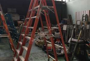 Platform Ladder 2 Meter Chief Industrial 7 Step with Casters