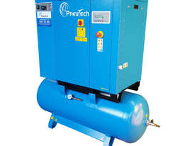 Pneutech 7.5hp Rotary Screw Air Compressor, Integrated Receiver And Refrigerator Dryer - picture4' - Click to enlarge