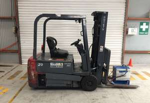 2.0T Battery Electric 3 Wheel Battery Electric Forklift