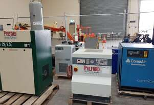 PULFORD SILENT 1.5Kw 16 Hours!! + MARKWELL 10hp Compressors. Dryers + Tanks