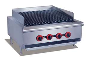 QR-24E Natural Gas 4 Burner Char Grill Top