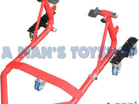 MOTORBIKE REAR WHEEL STAND - picture0' - Click to enlarge