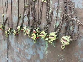 Loadset Chain Hoist Lift Block and tackle 0.5 Tonne x 6 metre chain  - picture1' - Click to enlarge