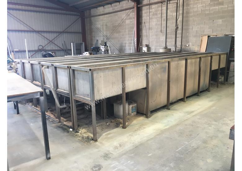 Powdercoating extrusion dipping tanks