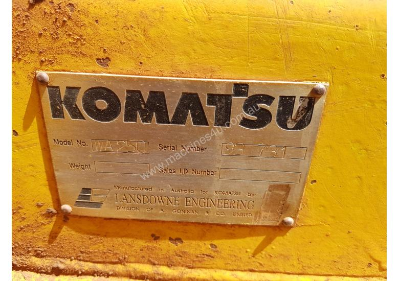 1994 Komatsu WA250-1 Wheel Loader *CONDITIONS APPLY*