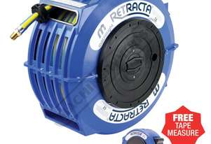 AW2150 Retractable Air & Water Hose Reel  15 Metre x Ø10mm ID Hose, Includes Free Tape Measure