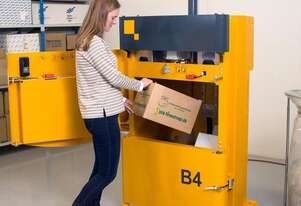Bramidan B4 Vertical Baler | Great for Cardboard & Plastic | Quiet and compact in size