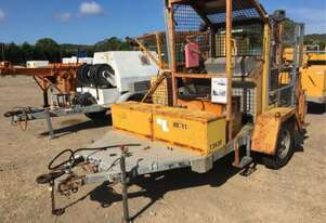10kn Overhead line recovery winch , 2cyl diesel ,