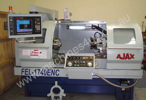 Ajax 435mm Swing Flat Bed Teach-In CNC Lathes now available with 86mm bore