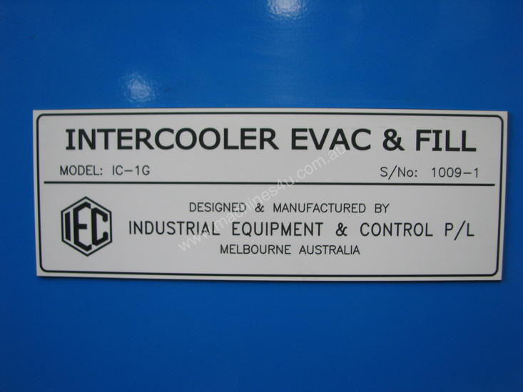 Vehicle Intercooler Evacuate & Fill