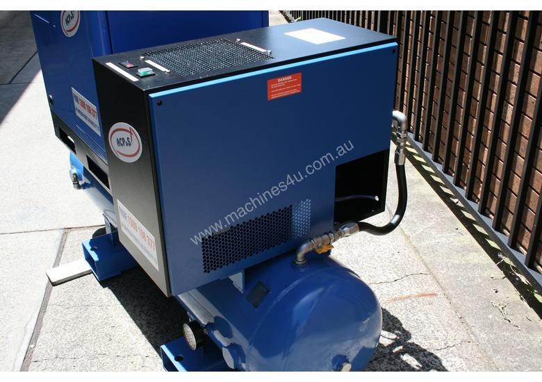 German Rotary Screw - 10hp 7.5kW Rotary Screw Air Compressor with Tank Dryer and Oil Removal Filters