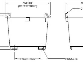 Stackable Waste Bin 0.75m3 2000kg - picture3' - Click to enlarge