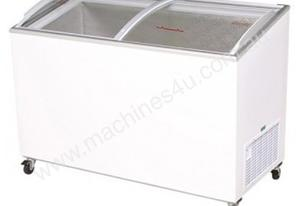 Bromic CF0400ATCG Angled Glass Top 350L Chest Freezer