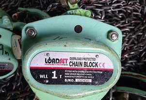 Chain Hoist Block & Tackle 1 ton x 9 mtr lift Load