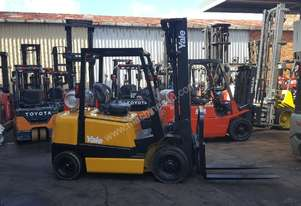 YALE FORKLIFT 2.5 TON 5500MM LIFT REFURBISHED