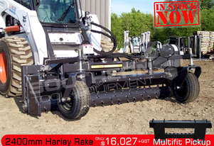 2400mm MX8H Harley Rake Suit Bobcat loaders ATTRAK
