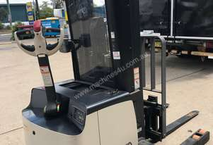 Crown walkie stacker with reach