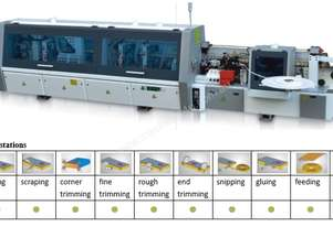 NANXING Pre milling Corner Rounding 3 speeds Touch Screen Auto Edgebander NB7CJ