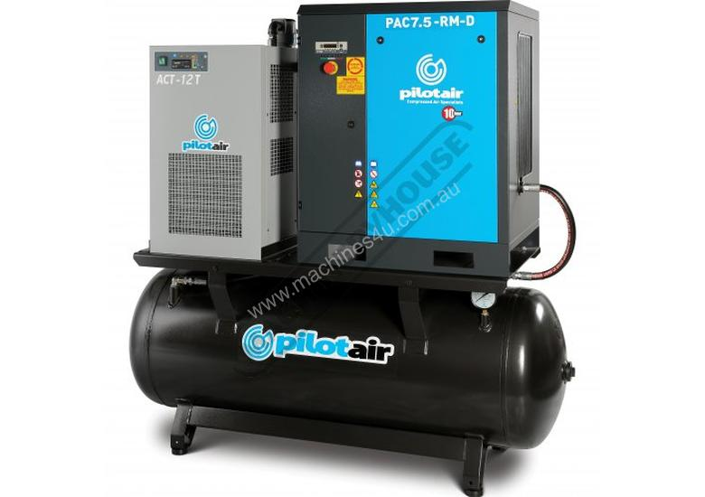 PAC7.5-RM-D Rotary Screw Air Compressor 1002L/Min. 35.3CFM  10 Bar Includes Integrated Air Dryer