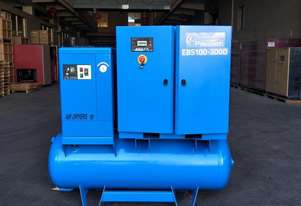 Pneutech 40 CFM/10hp Rotary Screw Compressor w/ Integrated Air Receiver Tank.