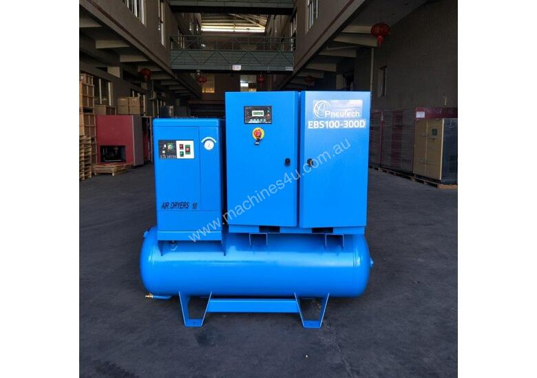 FOCUS INDUSTRIAL 40 CFM/10hp Rotary Screw Compressor w/ Integrated Air Receiver Tank.