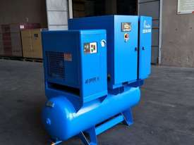 FOCUS INDUSTRIAL 40 CFM/10hp Rotary Screw Compressor w/ Integrated Air Receiver Tank.  - picture1' - Click to enlarge