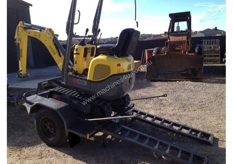 Wacker Neuson 803(1T) Excavator with Trailer