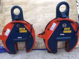 CROSBY IP10 12TON VERTICLE LIFTING CLAMPS x2 (sale includes 2 clamps!) - picture0' - Click to enlarge