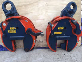CROSBY IP10 12TON VERTICLE LIFTING CLAMPS x2 (sale includes 2 clamps!) - picture1' - Click to enlarge