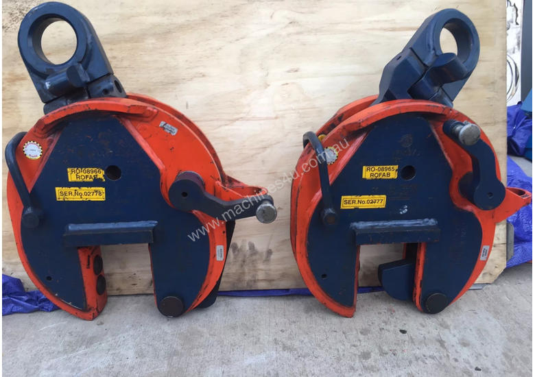 CROSBY IP10 12TON VERTICLE LIFTING CLAMPS x2 (sale includes 2 clamps!)