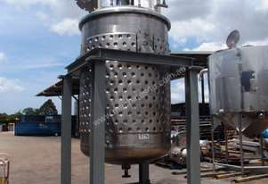 Stainless Steel Jacketed Mixing Tank, Capacity: 3,500Lt