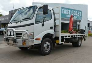 2010 HINO DUTRO 300 Service Vehicle Tray Top Crane Truck