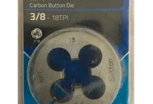 Sutton Tools Button Die 3/8 NPT - 18TPI Metal Thread Cutting