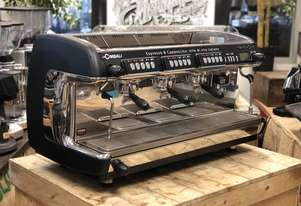 LA CIMBALI M39 GT 3 GROUP BLACK AND STAINLESS ESPRESSO COFFEE MACHINE