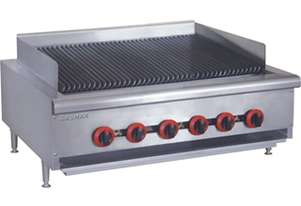 QR-36E Natural Gas 6 Burner Char Grill Top