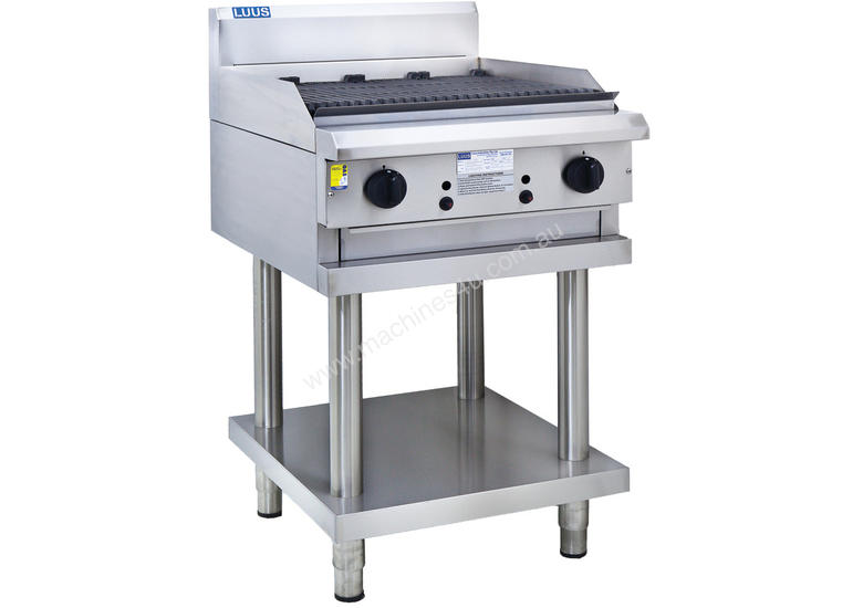 600mm Chargrill with legs & shelf