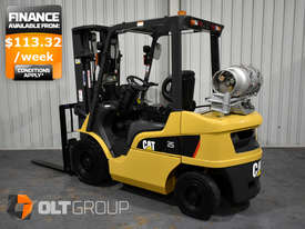 CAT Forklift GP25N 2.5 Tonne Dual Fuel Petrol/LPG Container Mast Low Hours - picture0' - Click to enlarge