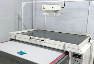 Screen print vacuum exposure unit - printer - washout booth - Decorative Glass Technology