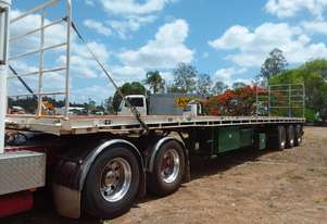 Freighter 45 ft flat bed trailer